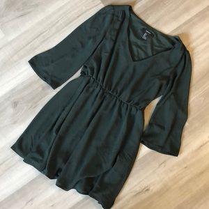 F21 dark green dress